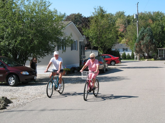 Cycling on private roadways